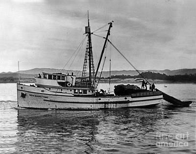 Photograph - New Marretimo Purse Seiner Monterey Bay Circa 1947 by California Views Archives Mr Pat Hathaway Archives