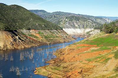 New Melones Lake Drought Art Print by George Post