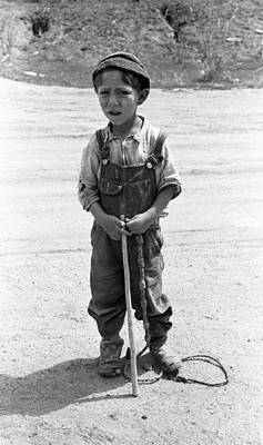 Working Cowboy Photograph - New Mexico Boy, 1940 by Granger