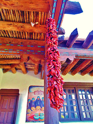 Mixed Media - New Mexico Chiles by Michelle Dallocchio