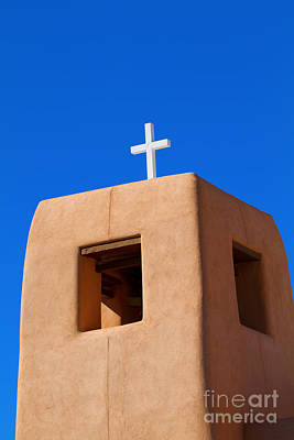 Photograph - New Mexico Church Tower by Martha Marks