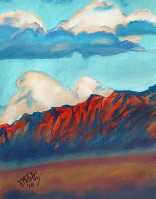 Pastel - New Mexico Cliffs by Michael Foltz