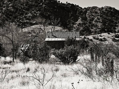 Photograph - New Mexico Cuervo In Black And White by Lee Craig