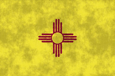 Santa Fe Digital Art - New Mexico Flag by World Art Prints And Designs