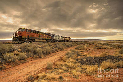 Dash 9 Photograph - New Mexico Freight  by Rob Hawkins