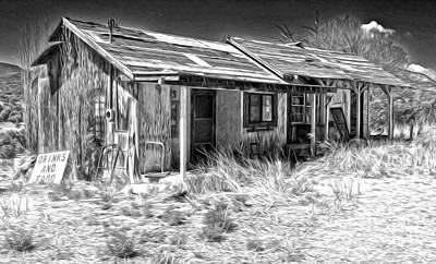Photograph - New Mexico Haunted Shack by Gregory Dyer