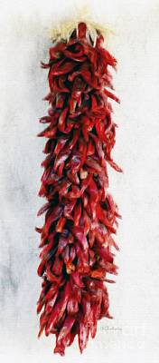 New Mexico Red Chili Art Art Print