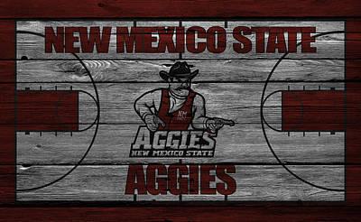 Basketball Photograph - New Mexico State Aggies by Joe Hamilton