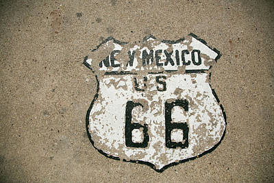 Route 66 Photograph - New Mexico State Route 66 Sign by Julien Mcroberts