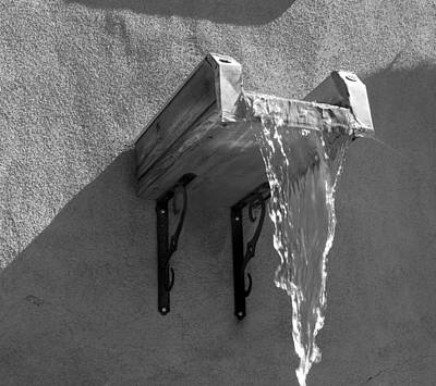 New Mexico Water Bw Art Print