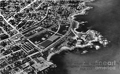 Photograph - Aerial Of New Monterey Hopkins Marine Station And Pacific Grove July 1932 by California Views Mr Pat Hathaway Archives