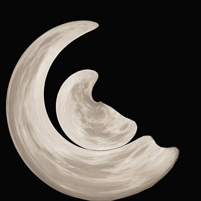 Digital Art - New Moon by Ernie Echols