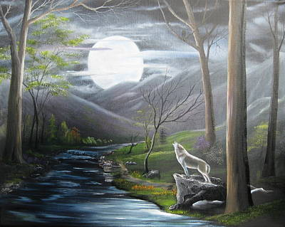 Painting - New Moon by RJ McNall