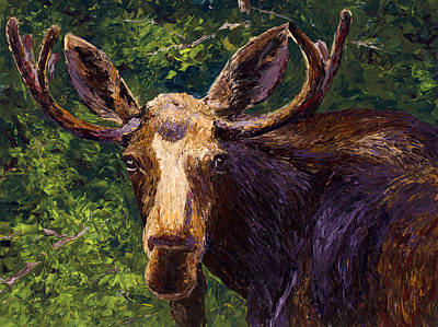 Painting - Loose Moose by Mary Giacomini