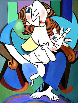 New Mother With Child Art Print by Anthony Falbo