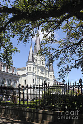 Cathedral-basilica Of St. Louis King Of France Photograph - New Orleans 20 by Carlos Diaz