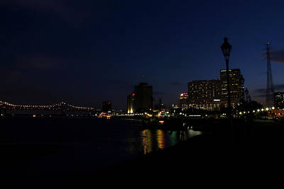 Photograph - New Orleans At Night by Judy Vincent