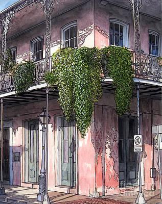 New Orleans Balcony Art Print by John Boles