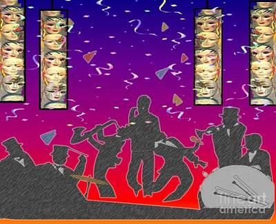 Painting - New Orleans Big Band by Belinda Threeths