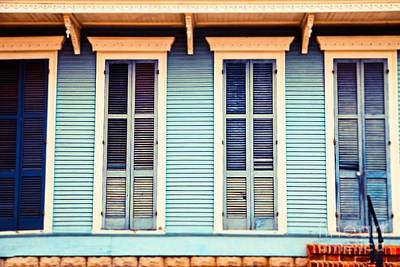 Print featuring the photograph New Orleans Blue And Orange House by Sylvia Cook