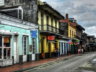New Orleans - Bourbon Street 006 Print by Lance Vaughn