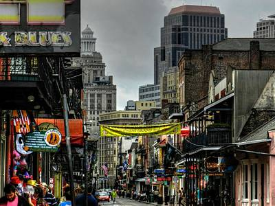 New Orleans - Bourbon Street 008 Print by Lance Vaughn