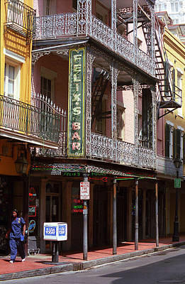 Photograph - New Orleans - Bourbon Street 10 by Frank Romeo