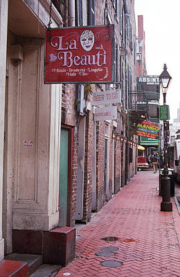 Photograph - New Orleans - Bourbon Street 3 by Frank Romeo