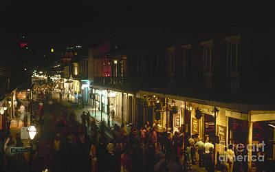 Photograph - New Orleans: Bourbon Street by Granger