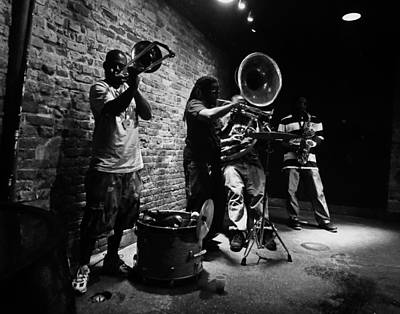 Sousaphone Photograph - New Orleans Brass Band by Louis Maistros