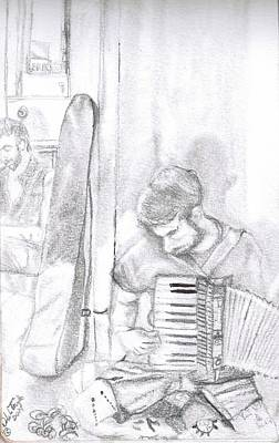 Musicians Drawings - New Orleans Breathes  by Natalie Trujillo