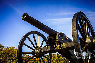 New Orleans Cannon At Washington Artillery Park Print by Paul Velgos