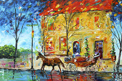 Horse And Buggy Painting - New Orleans Carriage Ride by Kevin  Brown