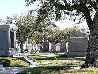 New Orleans Cemetery 2 Art Print by Elizabeth Fontaine-Barr