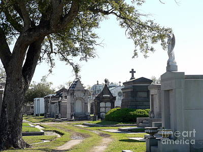 New Orleans Cemetery 3 Art Print by Elizabeth Fontaine-Barr