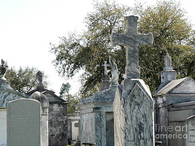 New Orleans Cemetery 4 Art Print by Elizabeth Fontaine-Barr