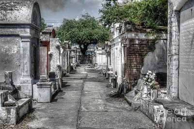 New Orleans Cemeteries Digital Art - New Orleans Cemetery by Timothy Lowry