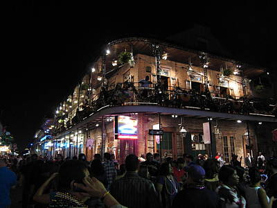 Nightlife Photograph - New Orleans - City At Night - 12123 by DC Photographer