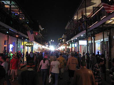 Streets Photograph - New Orleans - City At Night - 12125 by DC Photographer