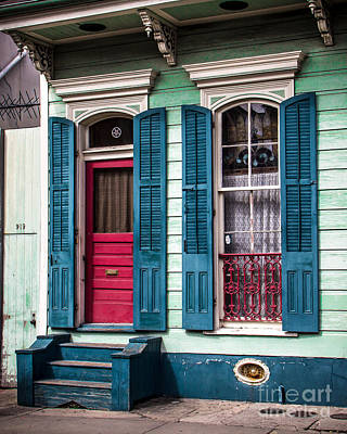 French Door Digital Art - New Orleans Colors by Perry Webster
