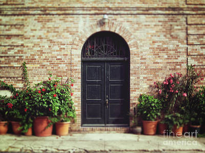 Photograph - New Orleans Courtyard Door by Heather Green