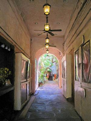 Photograph - New Orleans Courtyard Glimpse - Secret Garden by Rebecca Korpita