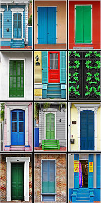 Old House Photograph - New Orleans Doors by Christine Till