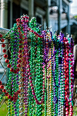 Colorful Photograph - New Orleans Fence Decoration by Andy Crawford