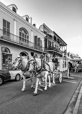 New Orleans Oil Photograph - New Orleans Funeral Monochrome by Steve Harrington