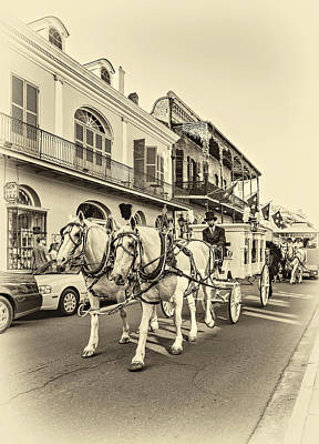 Funeral Procession Photograph - New Orleans Funeral Sepia by Steve Harrington