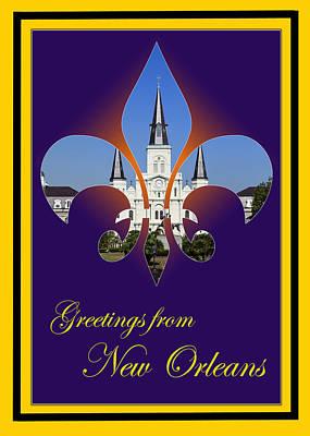 Fleur De Lis Photograph - New Orleans Greetings by Cecil Fuselier