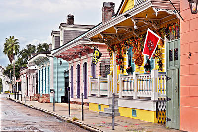 New Orleans Happy Houses Art Print