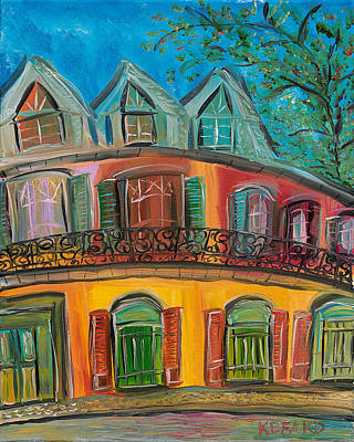 Painting - New Orleans Hotel by Kerin Beard