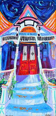 """New Orleans French Quarter /""""MAJIK/"""" cat print by Richard Lewis"""